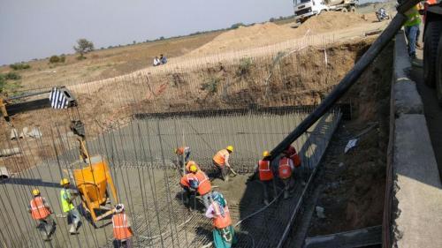 Raft casting minor bridge